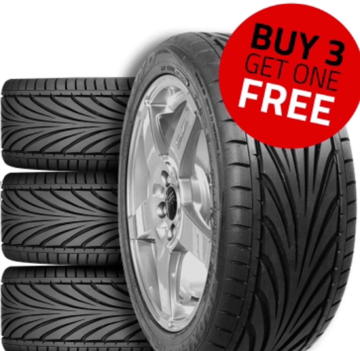 Toyo T1-R Tyres Buy 3 Get 1 Free £100.18 @ Demon tweeks