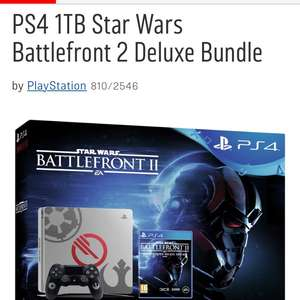 PS4Argos 1TB Star Wars Battlefront 2 deluxe bundle