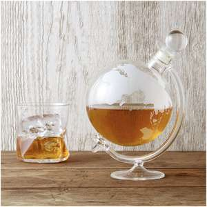 Glass Globe Whisky Decanter  - Now £19.99 delivered w/code @ IWOOT