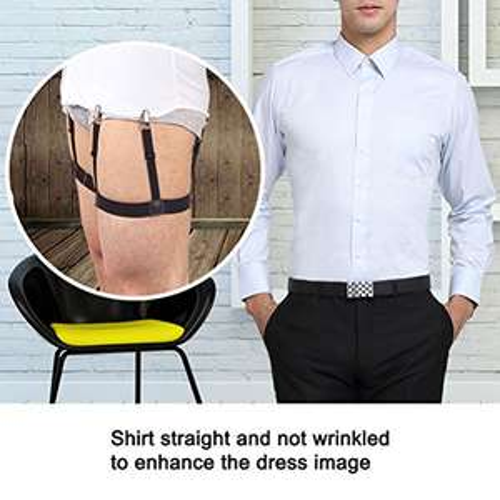 Jelinda Shirt Stays Men' Shirt Garters Belts Shirt Suspenders with Non-slip Locking Clamps One Pair