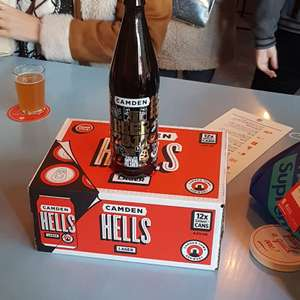 Free camden town brewery hells 12 pack on purchase of a bottle of beer 2017 £6 @ camden town brewery