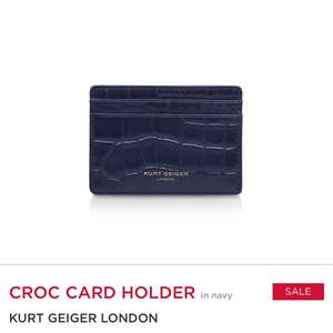 Kurt Geiger Croc leather card holder - £11.20 / £14.70 delivered @ Kurt Geiger
