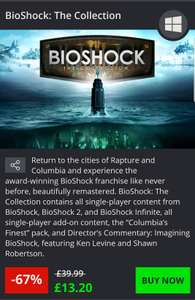BioShock: The collection on pc £13.20 @ Greenman gaming