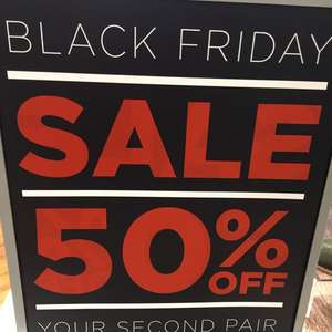 Skechers shop Black Friday Sale - ends 27/11/17 instore 50% off your second pair