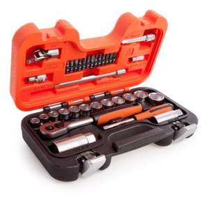 Selling from Toolstop with free delivery, Bahco S330 34 Piece Socket Set 1/4 Inch and 3/8 Inch Dynamic Drive - £24.99