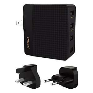 USB Charger 4 port 20W (travel charger) £8.99 prime / £21.98 non prime Sold by Pisen Direct-EU and Fulfilled by Amazon