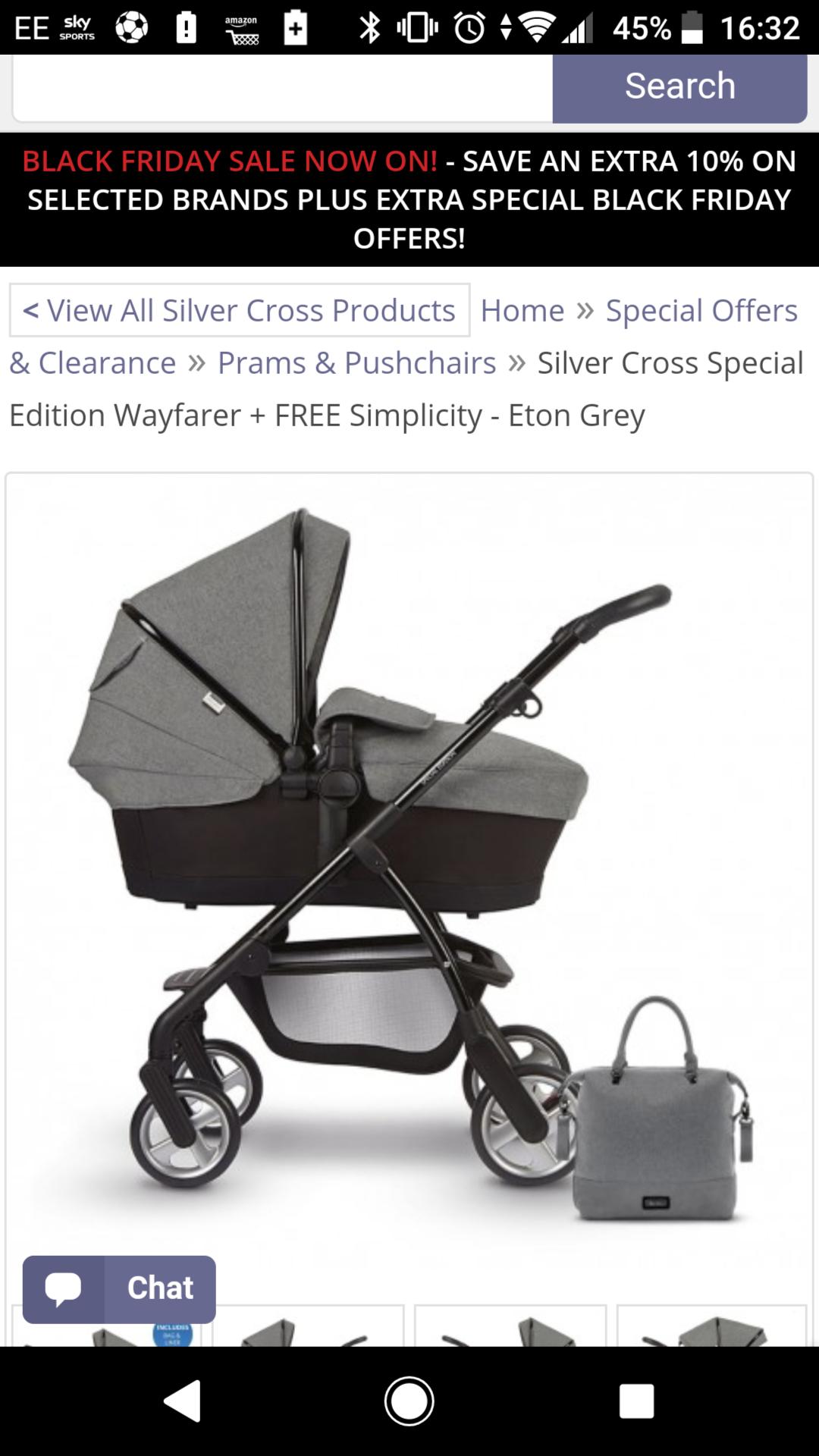 Silver cross pram with car seat eton grey