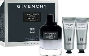 Gentlemen Only Intense Eau de Toilette Spray 100ml Gift Set. 75ml after shave balm, body&hair shower gel. Free delivery.