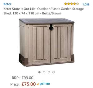 Keter Store It Out Midi reduced from £99 to £75 @ Amazon