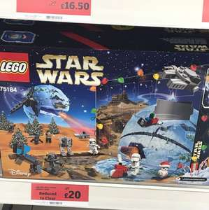 Lego Star Wars advent calendar £20 Sainsbury's