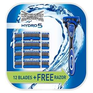 wilkinson sword Hydro 5, 12 blades for £14.99, Gift Set £12.99 @ Wilkinson Sword