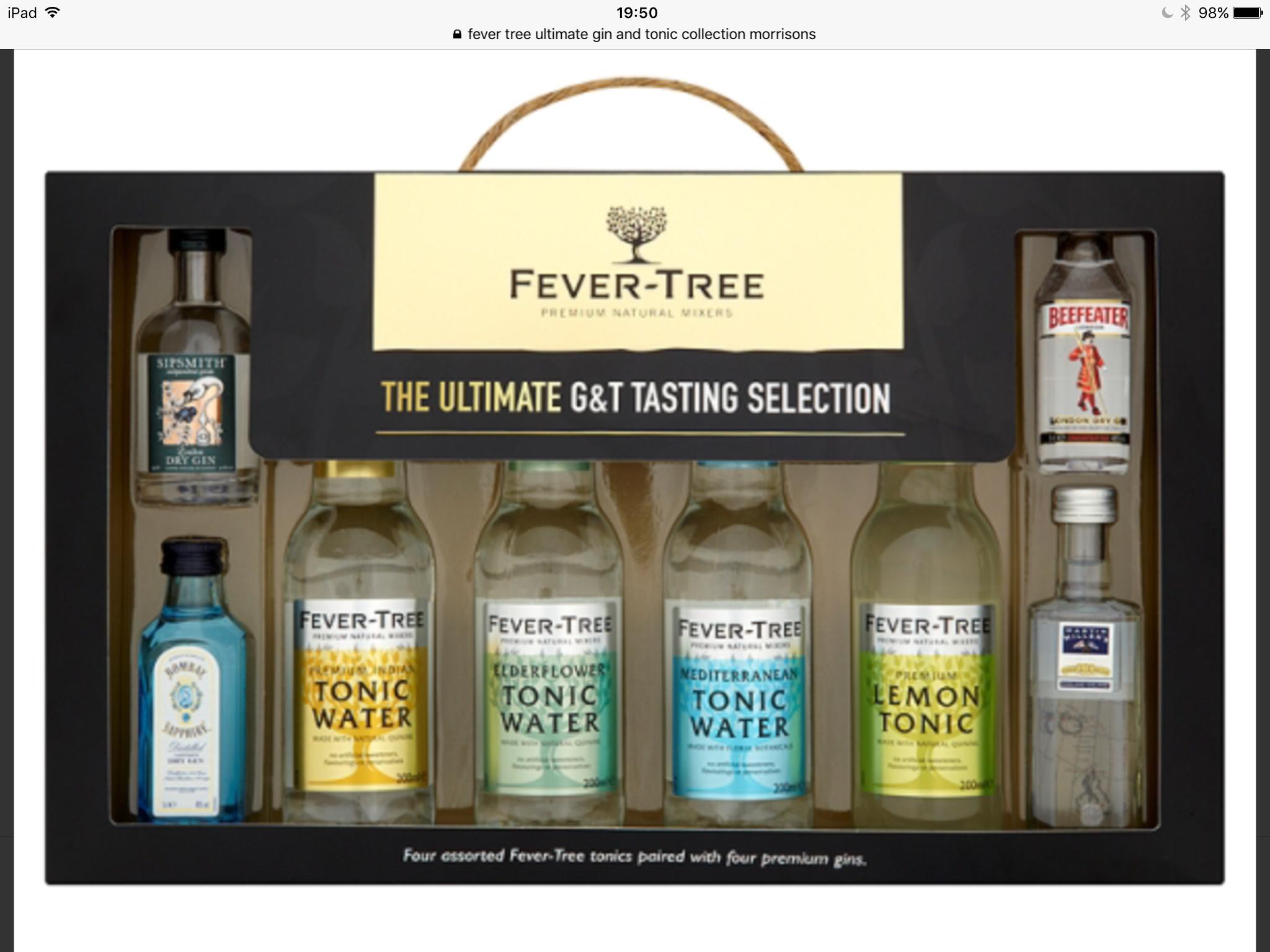 Fever Tree The Ultimate G & T Taster Selection £12 @ Morrisons
