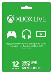 12 Month Xbox Live Gold Membership £30.99 @ Electronic First