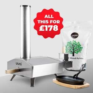 Uuni wood fired pizza oven - full price but £40 of free accessories including pellets £199 @ Cuckooland