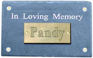 Natural Slate Pet In Loving Memory Memorial Plaque £5.15 (Prime) £10.14 delivered @ amazon