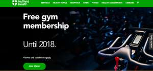 FREE gym membership until 2018 when taking out 12 month contract - £552
