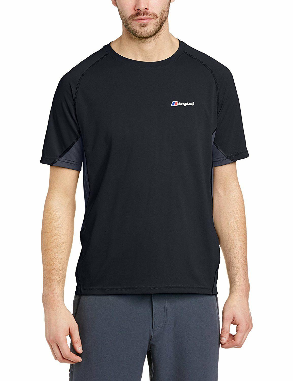 Berghaus Men's Short Sleeve Crew Neck Tech T-Shirt black/carbon all sizes £10.99 @ Amazon