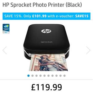 HP Sprocket printer- used for printing pictures straight from your phone £101.99