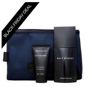 Issey Miyake Nuit D'Issey Eau de Toilette Spray 75ml, Shower Gel 50ml + Free Toiletry Bag @ allbeauty for only £29.49