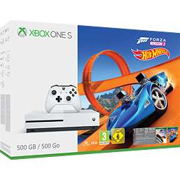 Xbox One S 500GB with Forza Horizon 3 Hot Wheels + Forza Motorsport 7 + 2 months NOW TV £169.99 @ Game
