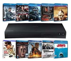 Zoom Samsung Blu-ray Bundle - Blu-Ray Player + 10 Blu-rays Bundle [Blu-ray] £59.50 / Samsung 4K Player + 5 4K UHDs Films £161.49 @ Zoom eBay store