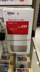 Google Home (used) £59 instore at John Lewis Kingston
