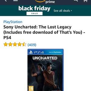 uncharted the lost legacy £9.98 @ Amazon
