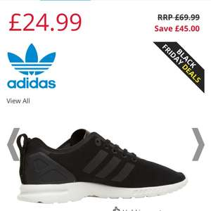 Ladies black adidas zx Flux Adv £24.99 and men's white £29.99 at mandm direct + £4.49 and quidco torsion