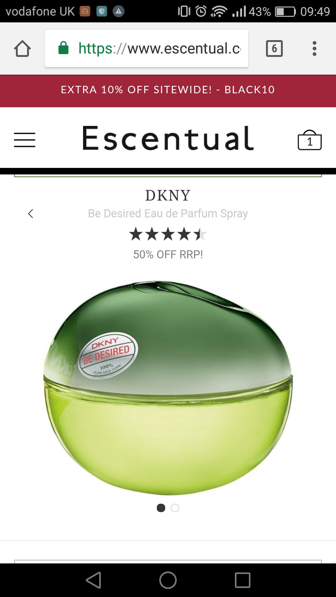 DKNY 100ml edp at Escentual