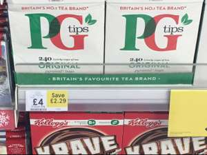 PG tips 240 for £4 instore @ Tesco (Romford)