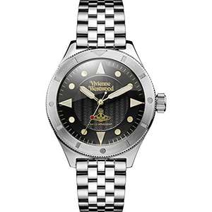 Vivienne Westwood Men's Quartz Watch silver and black £89 Del @ Amazon
