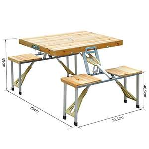 Folding picnic or garden table £36.92 Del @ Amazon