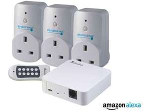 Energinie Mi Home WiFi plug Starter Pack £49.99 or 3 pack without hub and remote for £27.99 Black Friday Deal