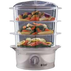 Russell Hobbs 21140 3-Tier Food Steamer £21.24 (free click and collect, or £3.95 delivery) @ Robert Dyas