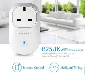 ORVIBO B25UK WiFi smart socket £16.45 (Prime) £17.95 (non prime) Sold by ZHIHUIXING and Fulfilled by Amazon