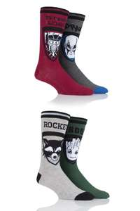 4 pairs of Guardians of the Galaxy socks (Groot, Rocket, Star-Lord AND Drax) £8.09 delivered @ SockShop