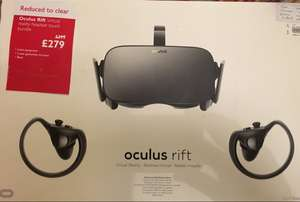 Oculus Rift with touch controllers £279 @ John lewis - Norwich