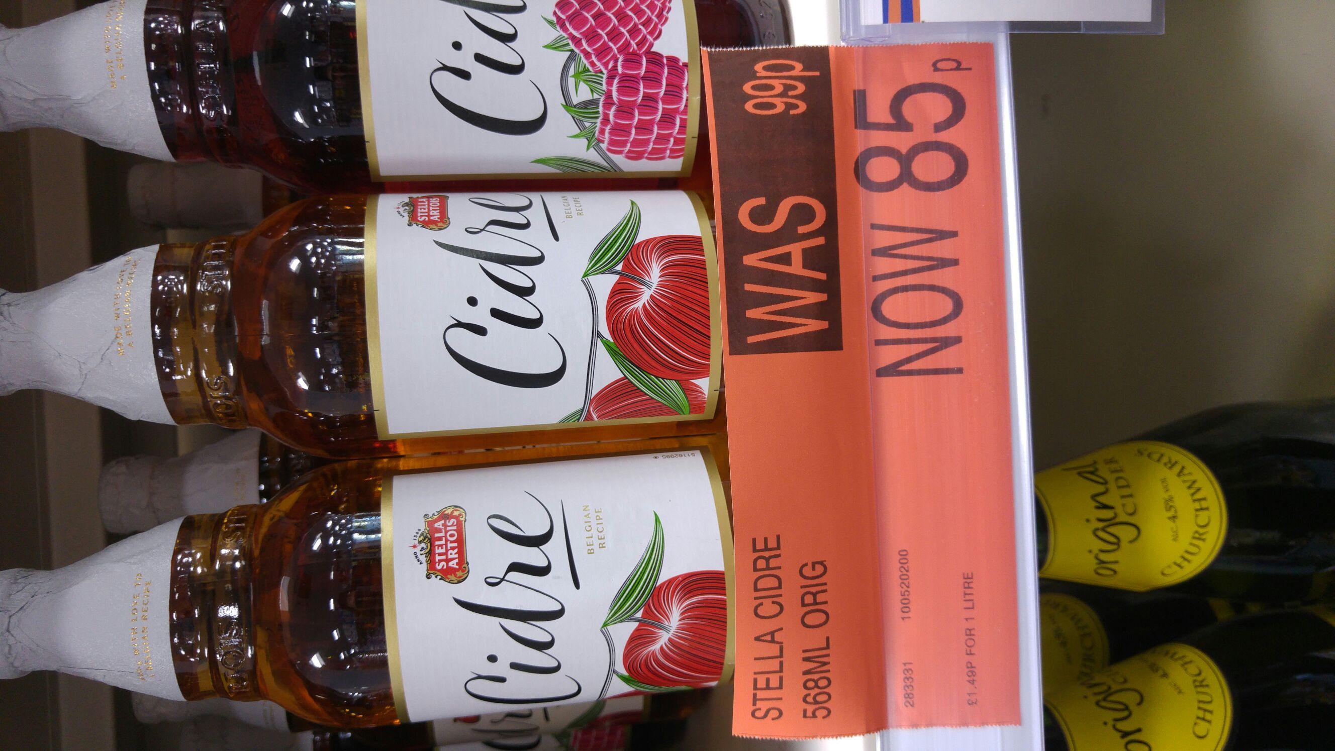 Stella Artois original cider 568ml - 85p - b&m Tolworth