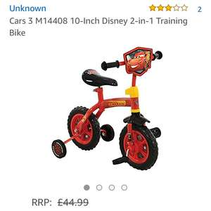 Cars 3 training bike £32.98 Amazon