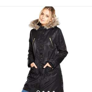 Oasis black parka now £38.49/£42.44 delivered at bargain crazy