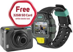 4G EE Action Cam, 1080p, Waterproof + View Finder Watch + FREE 32GB  SD card (while stocks last) £23.99 / £28.78 delivered - collect form local shops @ Scan