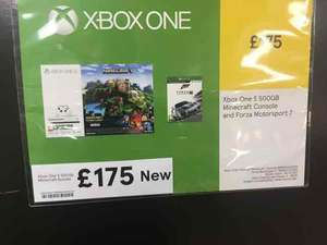 Xbox one s minecraft bundle and forza £175 @ Tesco instore