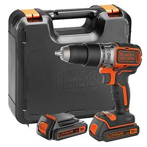 BLACK+DECKER BL188KB-GB 18 V Brushless Hammer Drill with 2 x 1.5 A Batteries and Kit Box (Black) - was £122.87 now £89.99 @ Amazon