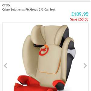 Cybex Solution M-Fix Group 2/3 Car Seat £109.95 @ Uberkids