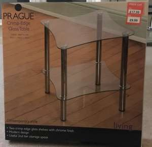 Glass side table - £9.99 @ poundstretcher - bloody bargain