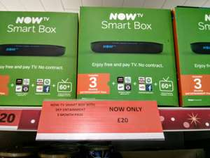 Now TV Smart Box With Sky Entertainment 3 Month Pass - £20 - Sainsbury's (Guildford)