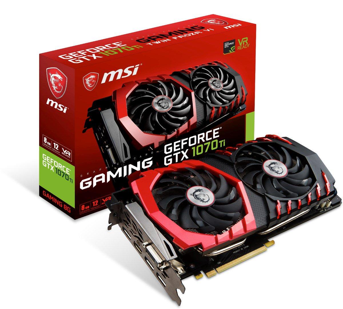 MSI GeForce GTX 1070 Ti GAMING 8GB Graphics Card £419.99 @ CCL