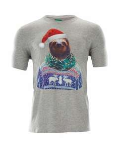 Most amazing Christmas Sloth T-Shirt £3.99 delivered (Instore from the 3rd) @ Aldi