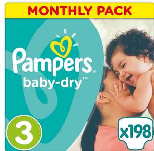 Pampers Baby Dry Size 3 198 pack - £15.84 @ Amazon - Prime Exclusive