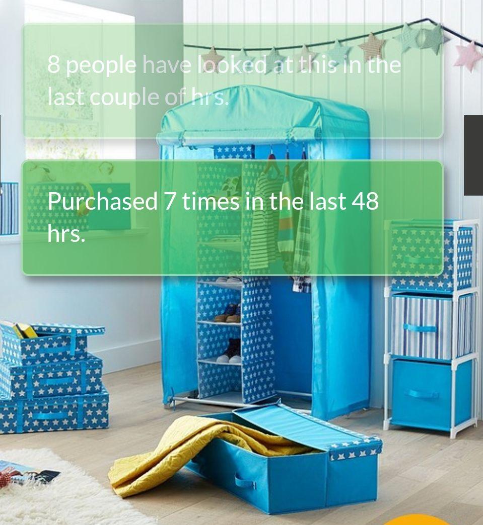Kids canvas wardrobe £13.50 @ Very